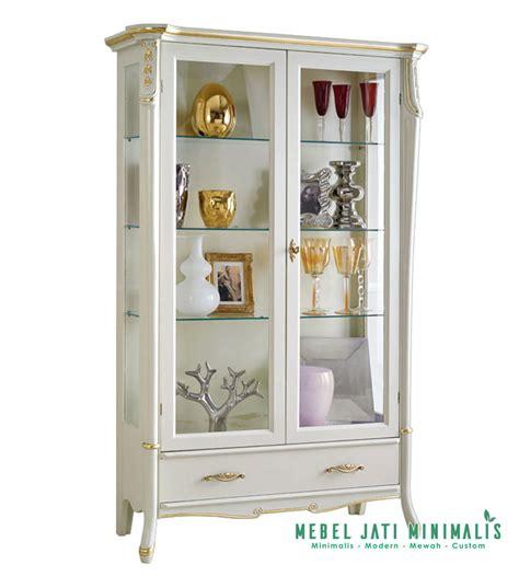 desain lemari hias lemari hias ruang tamu mewah terbaru mebel jati minimalis