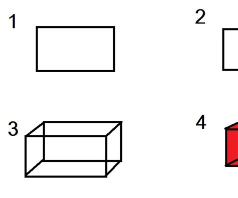 How To Make Cuboid With Paper - how to make a cloured 3d cuboid in microsoft paint or on