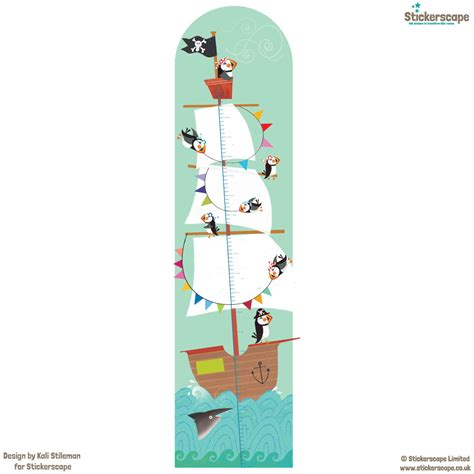 pirate wall stickers pirate height chart wall sticker height charts