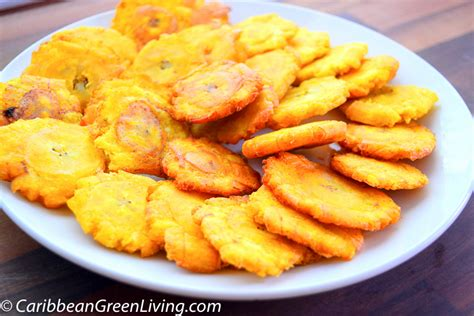 how to make crispy fried green plantains caribbean green living