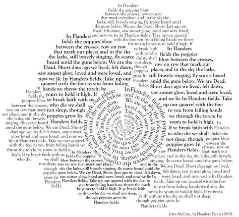 typography poem in flanders fields 1915 itsyourlife85