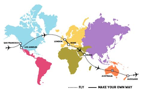 make my travel map the world airfare to auckland san francisco los