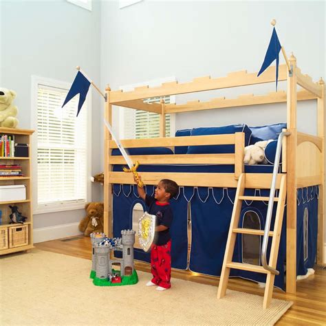 toddler bed loft maxtrix kids camelot castle loft bed