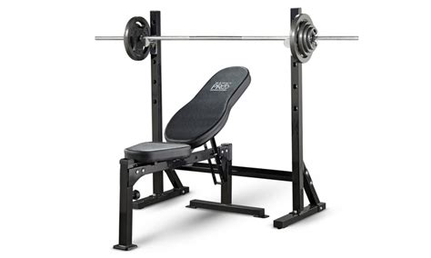 marcy pro mid width bench marcy pro workout bench groupon goods