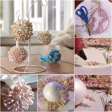 easy christmas decorations to make at home easy to make pearls christmas tree ornaments diy find