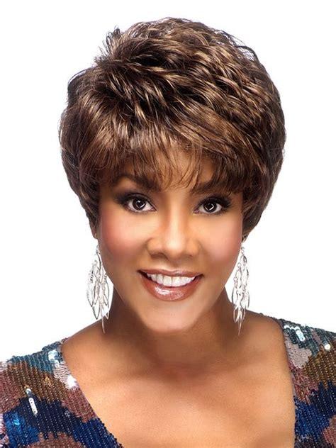bestlayeredshorthairstylesforafricanamericanwomen50yrsplus amy by vivica fox wigs com the wig experts my style