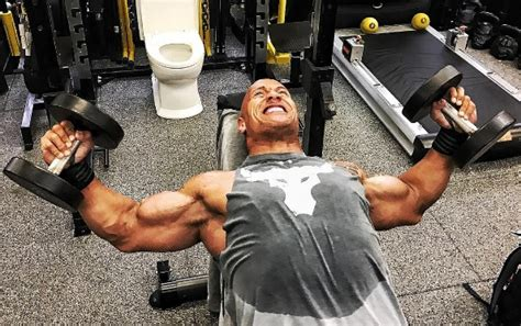 rock bench press the rock dwayne johnson s workout routine for chest and