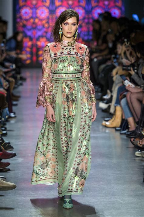 New Week A New Sui Dresss by Hadid In Sui At New York Fashion Week Fall 2018