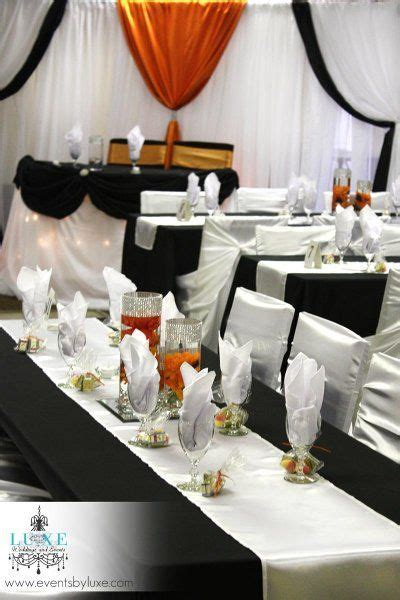 1000  images about Orange, black and white wedding decor