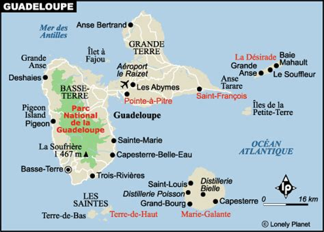 carte guadeloupe : plan des sites incontournables | lonely