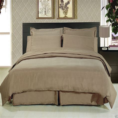 Bed Sheets by 8pc Luxury Soft Taupe Bedding W Microfiber Sheets