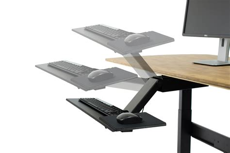 computer keyboard stand for desk amazon com kt2 ergonomic desk adjustable height