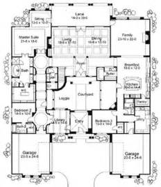Spanish House Floor Plans by Home Plans Courtyard Courtyard Home Plans Corner