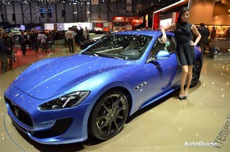 maserati granturismo sport italian style  blue