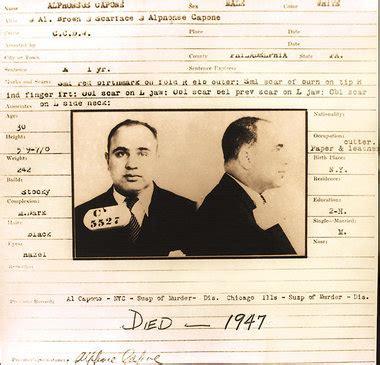 Al Capone Business Card