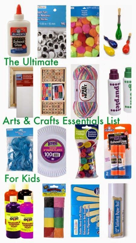themes list for art the ultimate arts crafts essentials list supply list