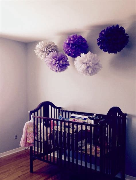 how to make room decorations 5 nursery pompoms hanging tissue paper flower balls