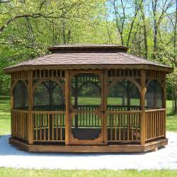 screened in gazebo kits patio or garden gazebo kits wooden outdoor screened