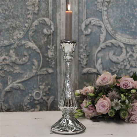 Kerzenständer Hoch Glas by Ferrum Living Chic Antique Glas Kerzenst 228 Nder Antik Silber