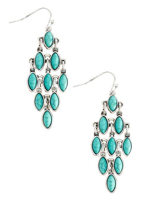 drop chandelier earrings turquoise chandelier earrings drop cato fashions