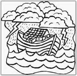 what color was noah noahs ark coloring pages