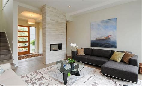 stunning living room ideas modern indoor fireplaces with noguchi glass coffee table and l sectional sofa for stunning