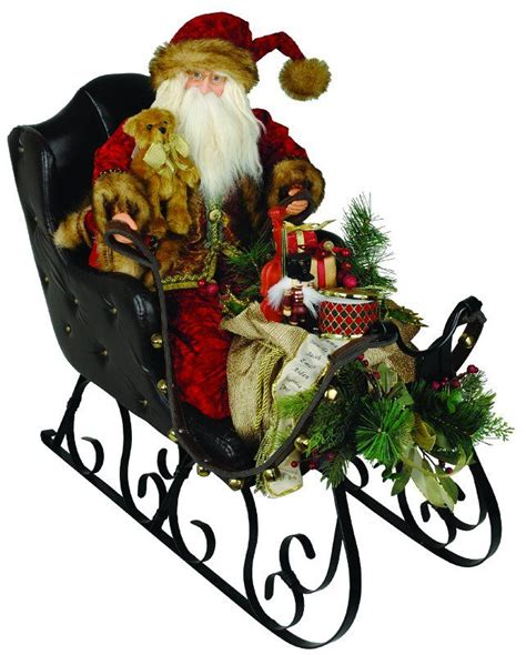 cc christmas decor 30 quot elegant crushed velvet santa claus