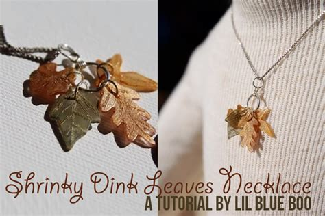 How To Make Shrinky Dink Paper - teeny tiny shrinky dink quot leaves quot necklace