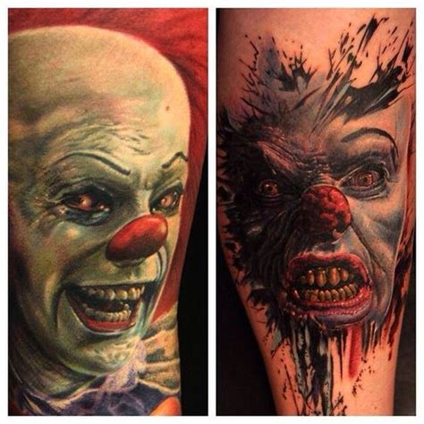 tattoo prices nelson pennywise the clown tattoo ink pinterest clowns