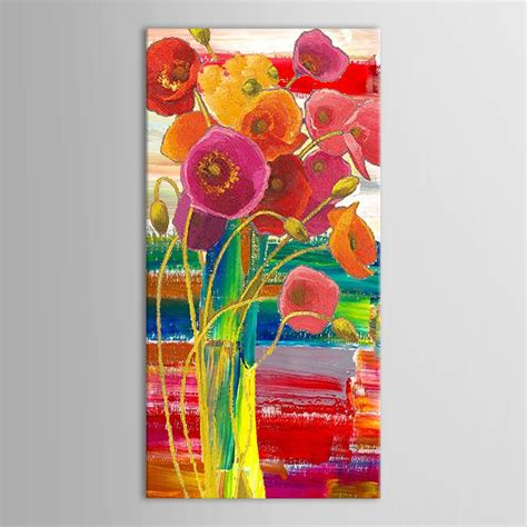 Famous Paintings Of Flowers In Vases Hand Painted Modern Abstract Decorative Beautiful Flowers