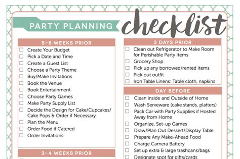 list theme for event access my free party planning checklist fantabulosity