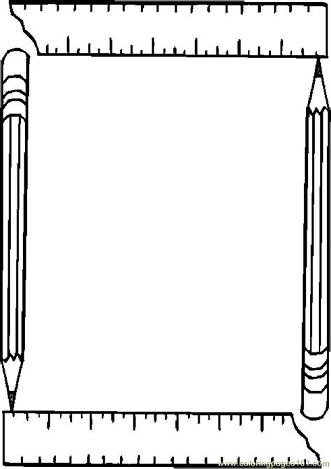 free printable coloring page borders printable coloring page pencil ruler frame education