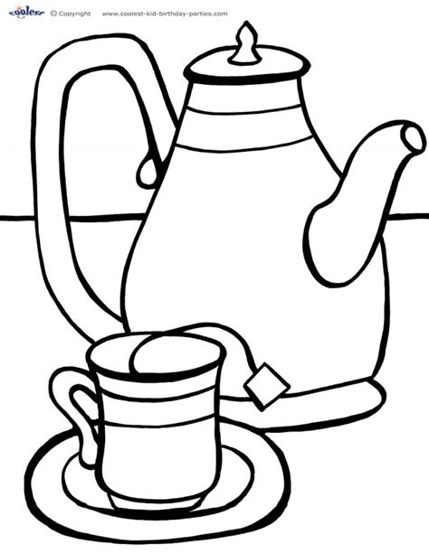 Tea Coloring Page the gallery for gt cup of tea coloring page