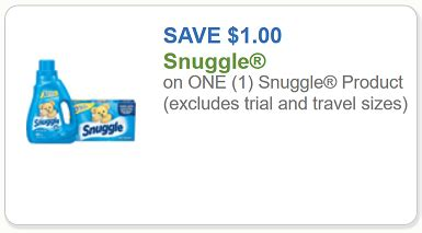 snuggle coupon $1 off any one snuggle product