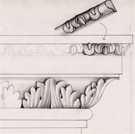 pedestal drawing drawing of acanthus leaf moulding for top of pedestal