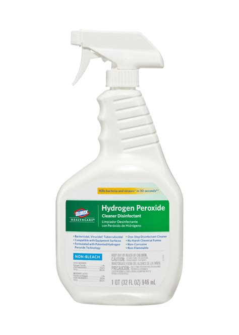 lead apron cleaners including clorox hydrogen peroxide disinfectant