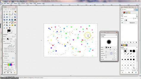 dot pattern in gimp gimp tutorial painting crazy random dots youtube