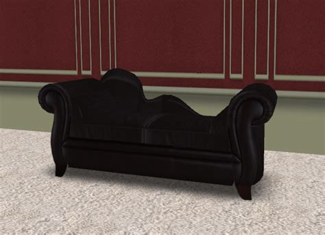 Couples Chair by Second Marketplace Fickle Designs Black Chaise Sofa