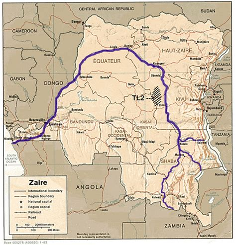 africa map zaire congo river