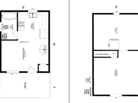 20 X 24 House Floor Plans 16x20 Cabin Floor Plans 16 X 16 12 X 30 House Plans