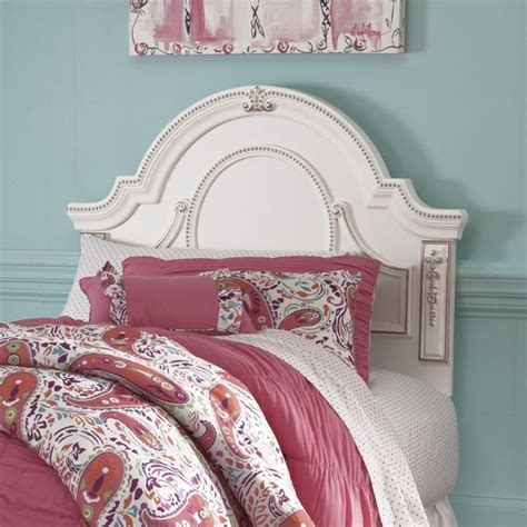 white wood twin headboard ashley korabella wood twin headboard in white b355 53
