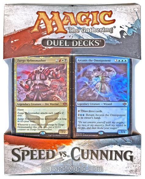 mtg duel decks magic the gathering speed vs cunning duel deck box da
