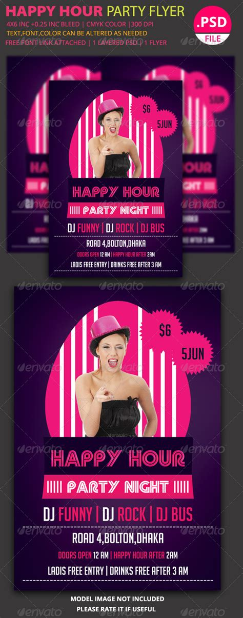 Happy Hour Flyer Templates For Publisher 187 Fixride Com Graphicriver Event Flyer Template