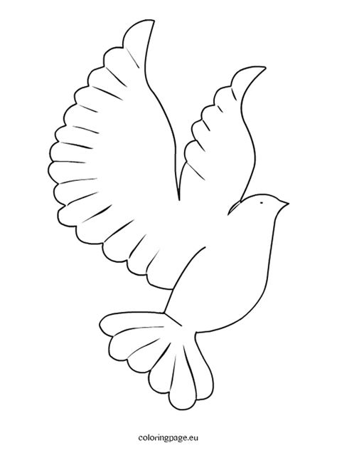 printable dove template coloring page