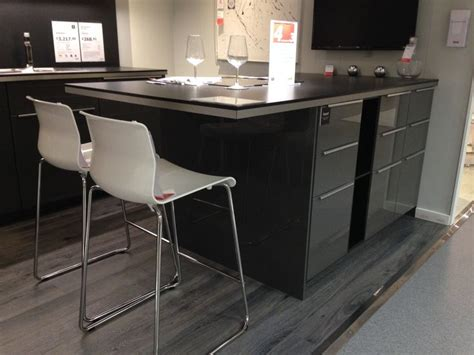 ikea kitchen islands with breakfast bar ringhult kitchen ikea grey gloss with breakfast bar had t