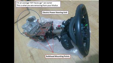 fiat stilo power steering failure how to remove broken or faulty power steering column on