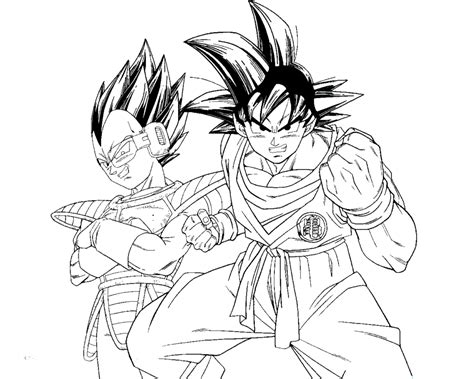 Goku And Vegeta By Mastertobi On Deviantart Coloring Pages Of Goku
