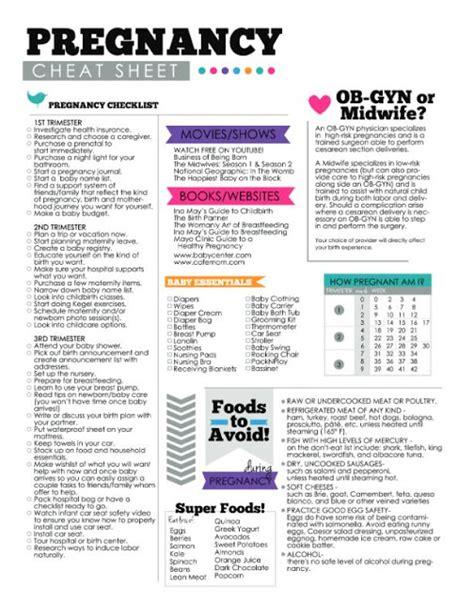 Printable Pregnancy To Do List | designorganized pregnancy cheat sheet checklist