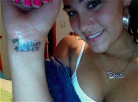 justin bieber permanent tattoo the good the bad and the tattooed justin bieber forever