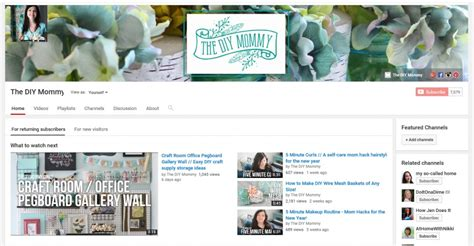 diy layout creator youtube how to start a youtube channel your diy blog the diy mommy